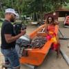 Photos du tournage du clip «smile for me»